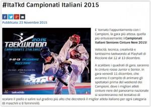 campionati italiani taekwondo 2015